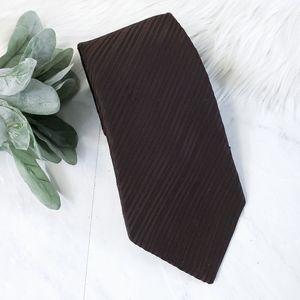 Vintage 1950s Dacron Polyester Brown Striped Tie